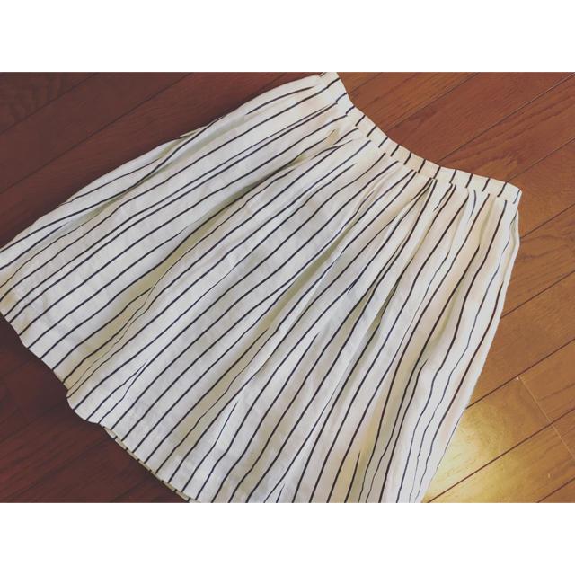 Demi-Luxe BEAMS(デミルクスビームス)のBEAMS ストライプ膝丈スカート レディースのスカート(ひざ丈スカート)の商品写真