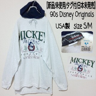ディズニー(Disney)の【新品/日本未発売】90s Disney ミッキー パーカーワンピース USA製(ミニワンピース)