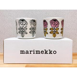マリメッコ(marimekko)のマリメッコ ヴィヒキルース ダークグリーン ピンクイエロー(グラス/カップ)