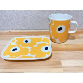 マリメッコ(marimekko)のマリメッコ ウニッコ マリーゴールド マグカップ プレートセット(グラス/カップ)