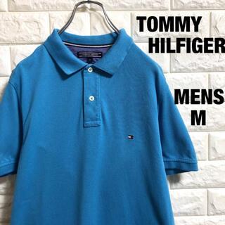 TOMMY HILFIGER - トミーヒルフィガー 刺繍ロゴ 半袖ポロシャツ メンズMサイズ