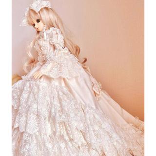 ボークス(VOLKS)の* Super Dollfieスーパードルフィーのの 天使のロココドレス付* (人形)
