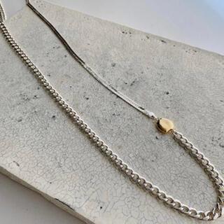 ドゥロワー(Drawer)のchieko  ロングネックレス silver (ネックレス)