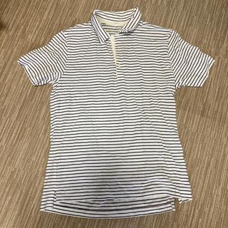 ムジルシリョウヒン(MUJI (無印良品))のポロシャツ ボーダー 半袖 Lサイズ 良品計画 メンズ(ポロシャツ)