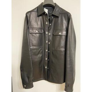 リックオウエンス(Rick Owens)のrickowens 20fw leather outershirts46(レザージャケット)