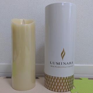 LUMINARA LEDキャンドル ルミナラピラー アイボリー3×8(キャンドル)