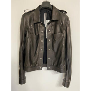 Rick Owens - rickowens 20ss leather outershirt 44