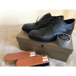パドローネ(PADRONE)の40 PADRONE ダービープレーントゥシューズ パドローネ 新品 BLACK(ドレス/ビジネス)