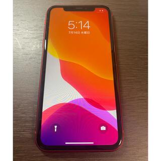 アイフォーン(iPhone)のジャンク 超美品 au版 iPhone11 64GB レッド(Red)説明文必読(スマートフォン本体)