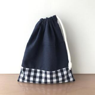 【SALE】ハンドメイド 巾着 コップ袋 ギンガムチェック(外出用品)