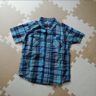 イオン(AEON)のチェックシャツ 半袖 130(Tシャツ/カットソー)