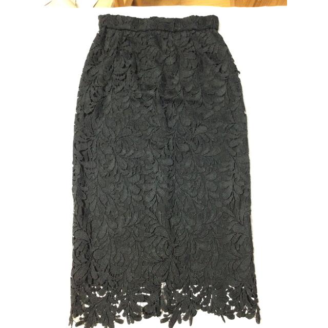 STYLE DELI(スタイルデリ)の【クラッシーレースサロペットスカート】スタイルデリ ブラックM-01サイズ レディースのスカート(ロングスカート)の商品写真