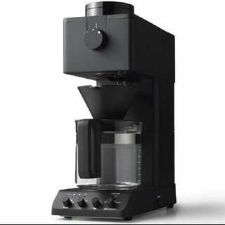 ツインバード(TWINBIRD)のツインバード 全自動コーヒーメーカー ブラック6cup CM-D465B 新品(コーヒーメーカー)