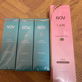 ノブ(NOV)のjin様専用!バリアコンセントレイトとエンリッチローションEX セット(化粧水/ローション)