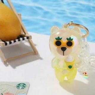 スターバックスコーヒー(Starbucks Coffee)のスターバックス中国夏限定 マンゴ  イエロー キーホルダー(キーホルダー)