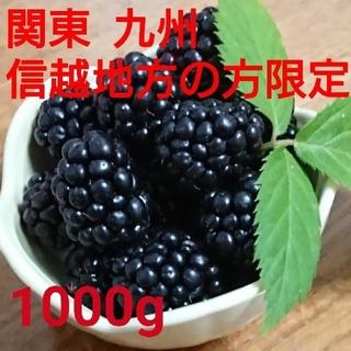 今期初物!!地域別 送料込み  冷凍 ブラックベリー  1000g  (フルーツ)