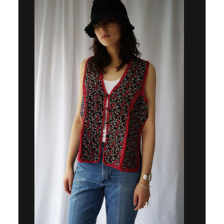 ビューティアンドユースユナイテッドアローズ(BEAUTY&YOUTH UNITED ARROWS)の70s suède patchwork vest(ベスト/ジレ)