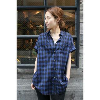 フレームワーク(FRAMeWORK)のFRAMeWORK チェックボイルビッグシャツ(シャツ/ブラウス(半袖/袖なし))