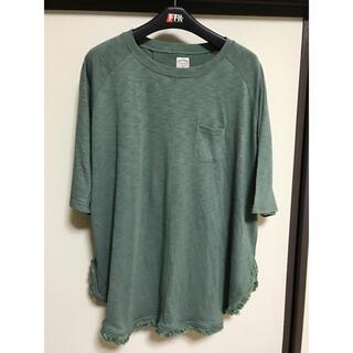 インザグルーヴ(in the groove)の裾フリンジ Tシャツ カットソー(Tシャツ(半袖/袖なし))
