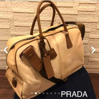 プラダ(PRADA)の【未使用】PRADA ハラコレザー ボストンバッグ(ボストンバッグ)