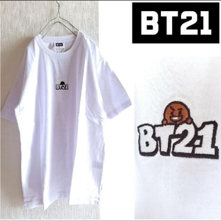 ボウダンショウネンダン(防弾少年団(BTS))のBTS/BT21×WEGO 未使用 ポイント刺繍Tシャツ SHOOKY ユンギ(Tシャツ(半袖/袖なし))