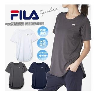 FILA - FILA Tシャツ 水陸両用 水着 速乾 ヨガウェア ネイビー