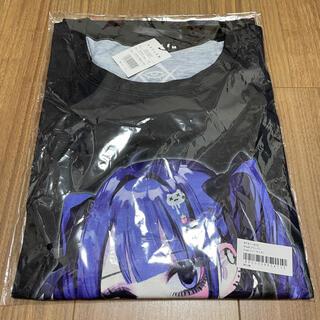 REFLEM【レフレム】negiコラボ青髪少女袖レースアップデザインTシャツ(Tシャツ(半袖/袖なし))