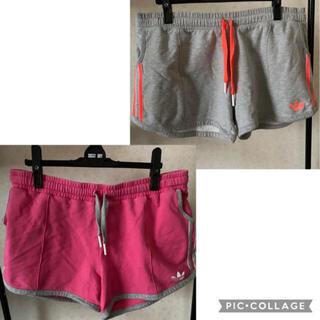 adidas - adidas ショートパンツ ショーパン ピンク グレー スポーツ テニス