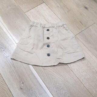 プティマイン(petit main)のpetit main プティマイン スカート 80サイズ キャメル ボタン(スカート)