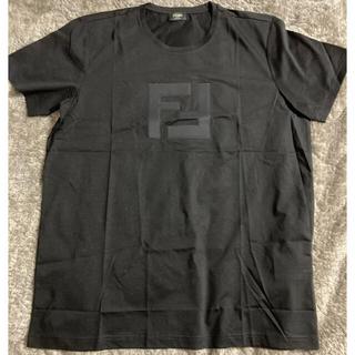 フェンディ(FENDI)の定価5万 極美品 人気フェンディ クルーネックTシャツ FFロゴパッチ ダブルF(Tシャツ/カットソー(半袖/袖なし))