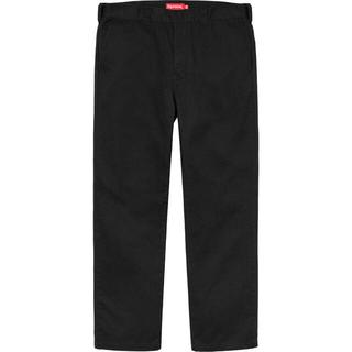 シュプリーム(Supreme)の30 Supreme Work Pant Black 20ss(チノパン)