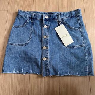 デュラス(DURAS)の新品DURAS フロントボタンスカート風ショートパンツ(ミニスカート)