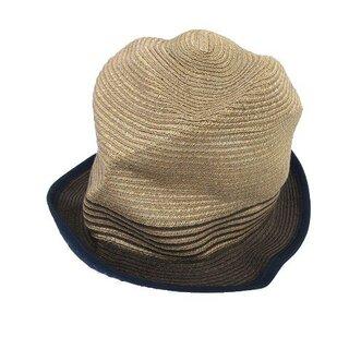 ポールスミス(Paul Smith)のポールスミス PAUL SMITH ストローハット リネン ボーダー 帽子 (その他)