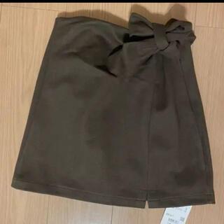 デュラス(DURAS)の新品未使用!DURASインナー付きサイドリボンスカート(ミニスカート)
