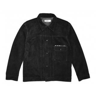 FRAGMENT - FRAGMENT × SEQUEL LEATHER JACKT BLACK XL