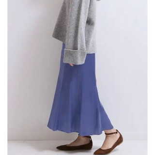 スピックアンドスパンノーブル(Spick and Span Noble)のNOBLE ランダムフレアマーメイドスカート(ロングスカート)
