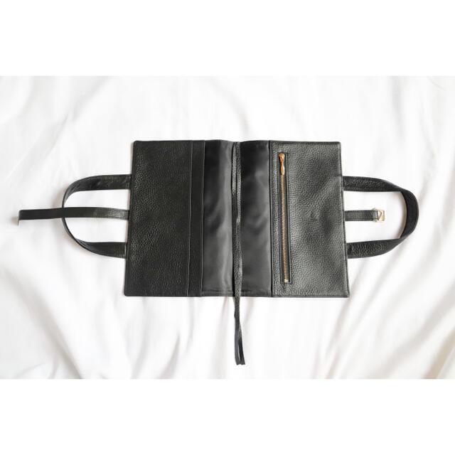 本革レビューブックカバー JIM4 ブラック  ハンドメイドの文具/ステーショナリー(ブックカバー)の商品写真