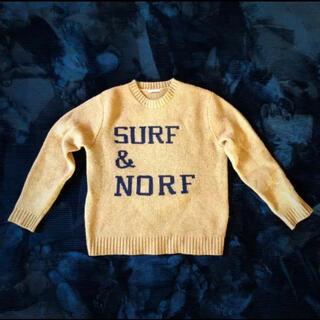 ベイフロー(BAYFLOW)の雑誌掲載の人気ニット『SURF&NORF』OCEANSモデル、マーシ−着用(ニット/セーター)
