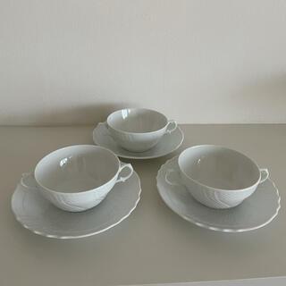 リチャードジノリ(Richard Ginori)のリチャードジノリ ベッキオホワイト スープカップ3客セット(食器)