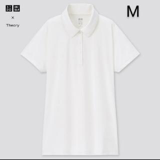 ユニクロ セオリー エアリズムAラインポロシャツ ホワイト M 新品