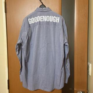 グッドイナフ(GOODENOUGH)の希少 90s『GOOD ENOUGH』初期背ロゴシャツ グッドイナフ 藤原ヒロシ(シャツ)