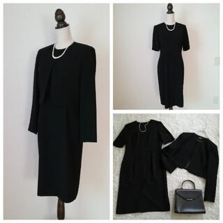 ソワール(SOIR)の日本製MENOD ブラックフォーマル ワンピース 13号 LL XL スカート(礼服/喪服)