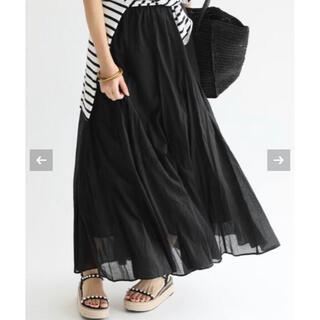 イエナ(IENA)のIENA  コットンボイルギャザーパネルスカート 36(ロングスカート)