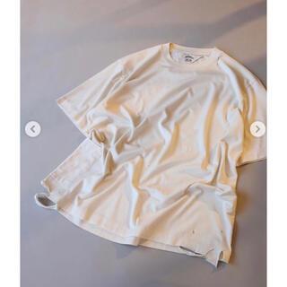 サンシー(SUNSEA)のSUNSEA21ss  34 T   Cream  size3(Tシャツ/カットソー(半袖/袖なし))
