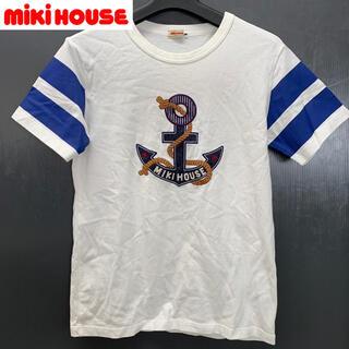 ミキハウス(mikihouse)の【MIKI HOUSE】(ミキハウス) マリン柄大判刺繍Tシャツ 古着(Tシャツ(半袖/袖なし))