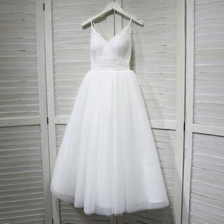 ウエディングドレス ショットドレス イブニングドレス パーティードレス 花嫁 二(ウェディングドレス)