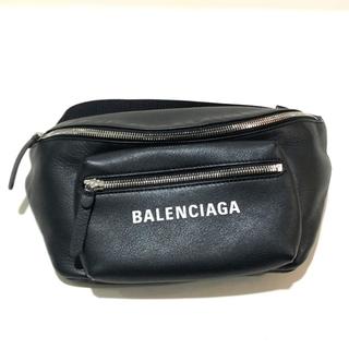 バレンシアガ(Balenciaga)のバレンシアガ 529765 ロゴ エブリディ ウエストバッグ ベルトバッグ 黒(ボディーバッグ)