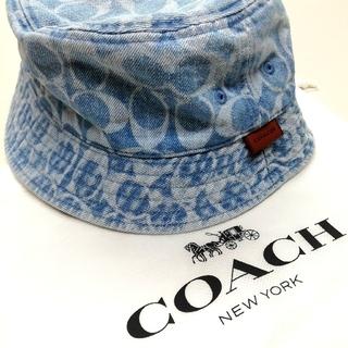 コーチ(COACH)の【COACH★C2436】コーチ新作♪シグネチャーデニムバケットハット帽子 新品(ハット)