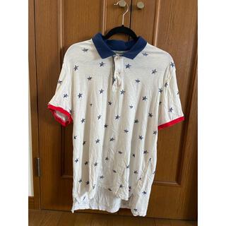 アメリカンイーグル(American Eagle)のアメリカンイーグル ポロシャツ メンズ 星柄 Lサイズ(ポロシャツ)