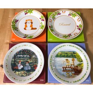【赤毛のアン】【あらいぐま ラスカル】4枚セット 世界名作劇場 絵皿